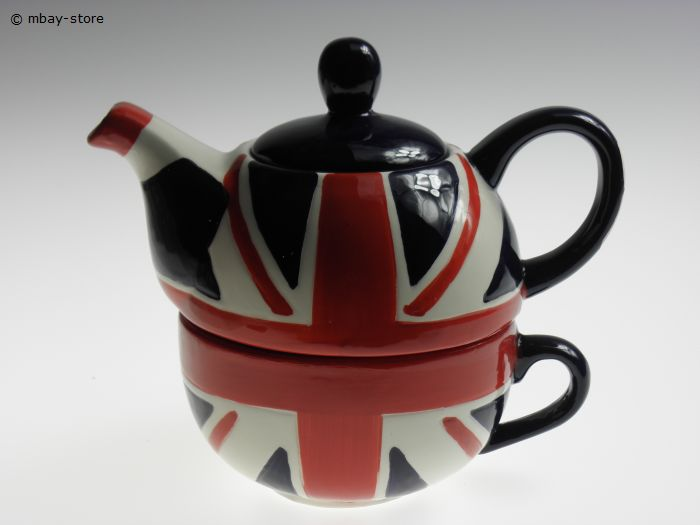 set teekanne tasse union jack kanne teetasse tea for one kaffeetasse neu ebay. Black Bedroom Furniture Sets. Home Design Ideas