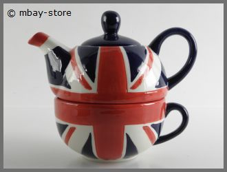 set teekanne tasse union jack kanne teetasse tea for one. Black Bedroom Furniture Sets. Home Design Ideas