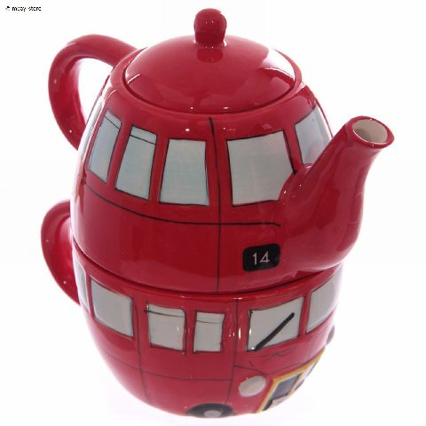 set englische teekanne tasse kanne teetasse rot tea for one kaffeetasse neu ebay. Black Bedroom Furniture Sets. Home Design Ideas