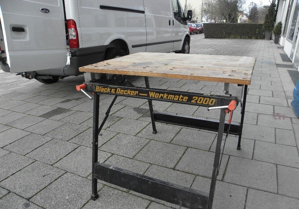black decker workmate wm 2000 werkbank klappbar holz metall ebay. Black Bedroom Furniture Sets. Home Design Ideas