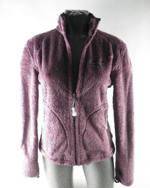 jack wolfskin nanuk damen fleece jacke fleecejacke lila jacke gr s 36 ebay. Black Bedroom Furniture Sets. Home Design Ideas
