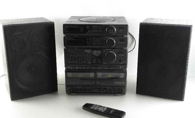 siemens stereoanlage mit cd kassette radio boxen kompaktanlage rs 248 r6 ebay. Black Bedroom Furniture Sets. Home Design Ideas