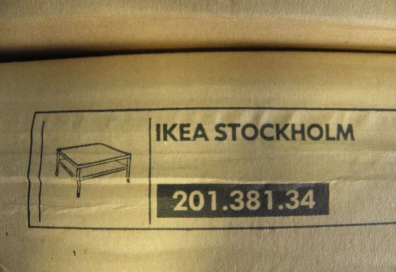 ikea stockholm tisch couchtisch beistelltisch holz neu 90 x 90 cm ebay. Black Bedroom Furniture Sets. Home Design Ideas