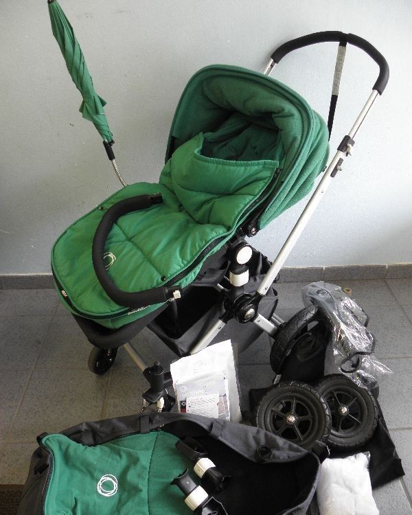 bugaboo cameleon gr n kinderwagen buggy babyschale sportwagen jogger zubeh r ebay. Black Bedroom Furniture Sets. Home Design Ideas