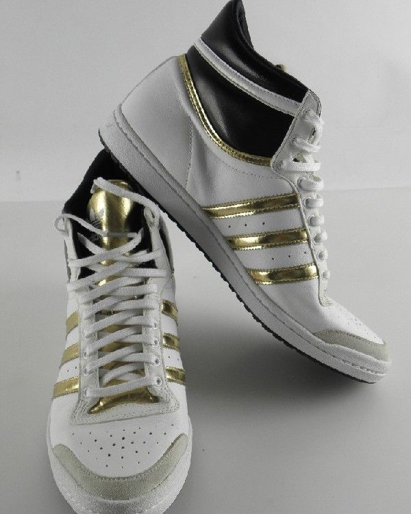 adidas top ten high sleek damen schuhe sneaker weiss leder. Black Bedroom Furniture Sets. Home Design Ideas