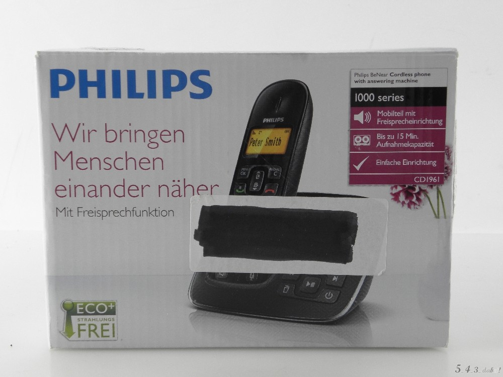 philips cd 191 schnurlostelefon anrufbeantworter telefon. Black Bedroom Furniture Sets. Home Design Ideas