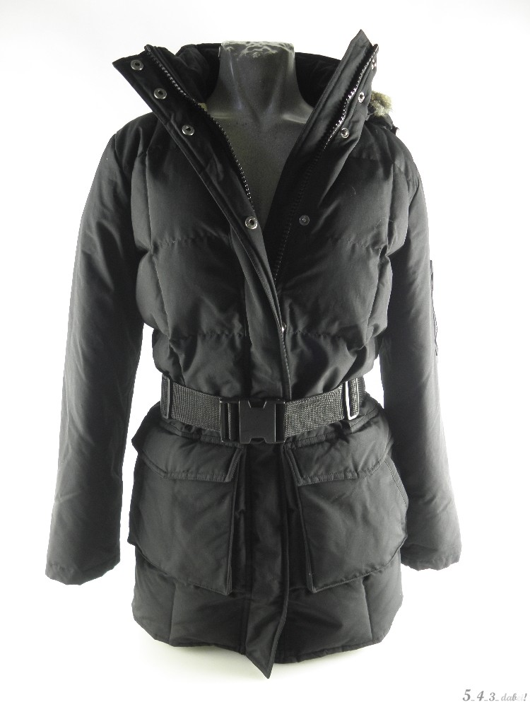 woolrich blizzard jacke gesteppte daunenjacke parka schwarz kapuze echtfell xs ebay. Black Bedroom Furniture Sets. Home Design Ideas