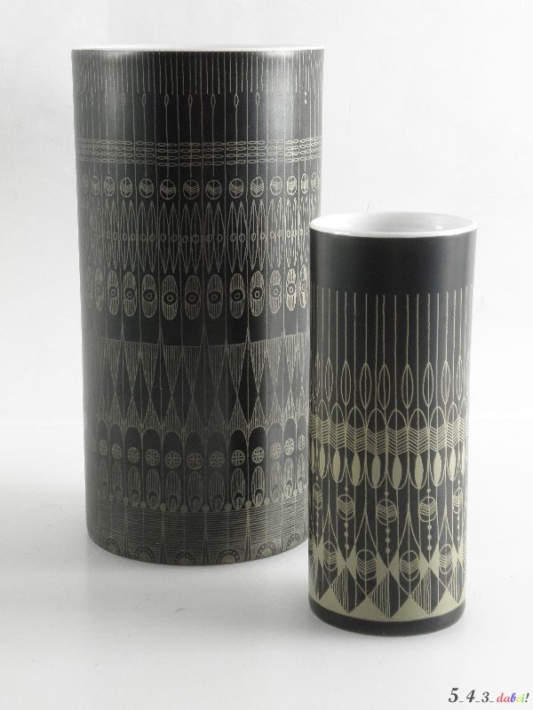 2 rosenthal vasen signiert hans t baumann studio line porzellan blumenvase vase ebay. Black Bedroom Furniture Sets. Home Design Ideas