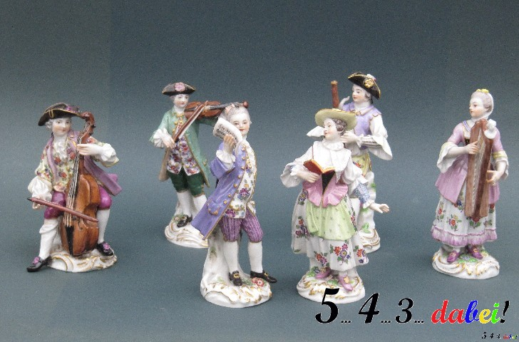 meissner porzellan meissen 6 figuren galante kapelle antiquit ten musician ebay. Black Bedroom Furniture Sets. Home Design Ideas