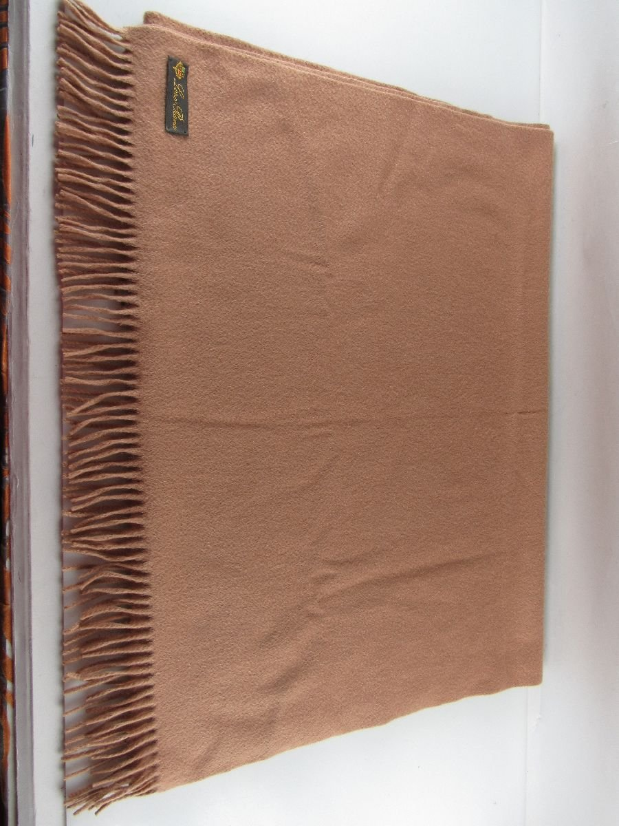 loro piana xl schal 68x200cm 100 kaschmir stola beige cognac scarf caramel ebay. Black Bedroom Furniture Sets. Home Design Ideas
