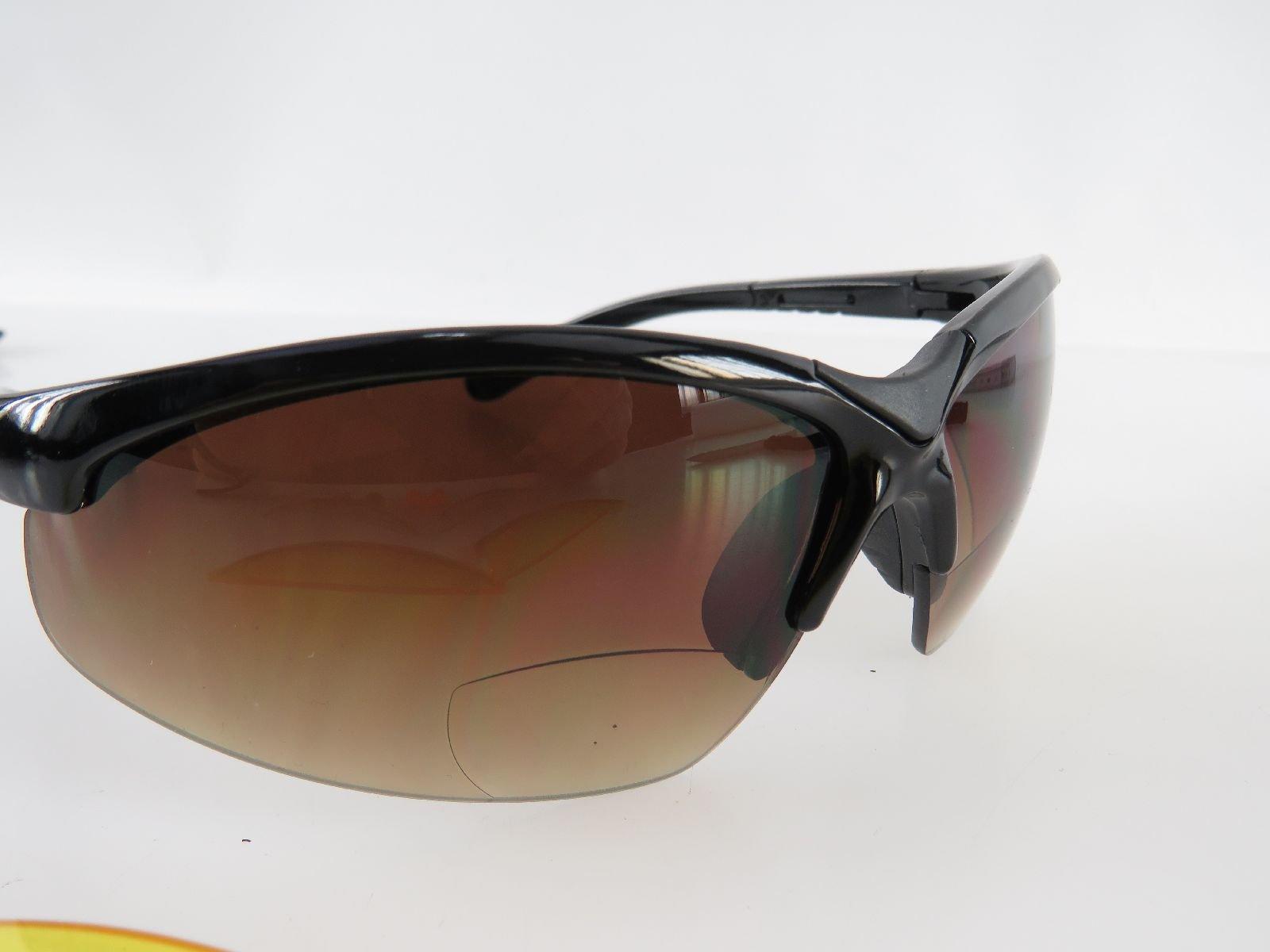 Details zu EAGLE FIVE Black Sun Sportbrille Sonnenbrille mit Lesezone Lesebrille +2,0
